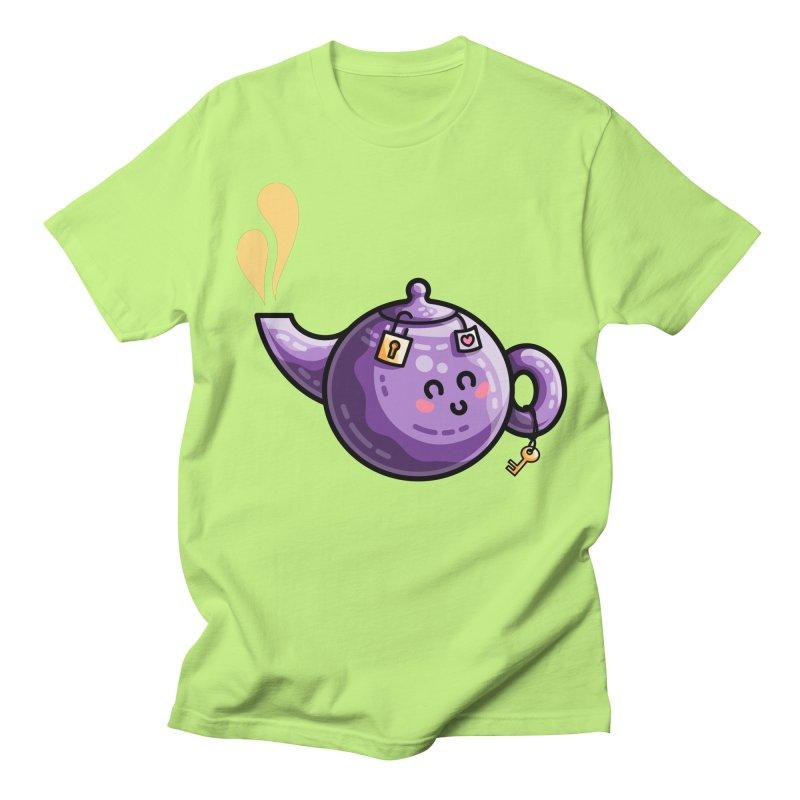 Kawaii Cute Safe-Tea Pun Men's Regular T-Shirt by Flaming Imp's Artist Shop
