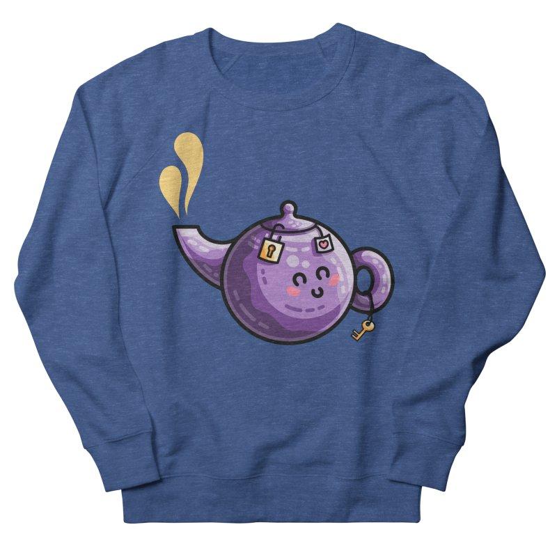 Kawaii Cute Safe-Tea Pun Men's French Terry Sweatshirt by Flaming Imp's Artist Shop