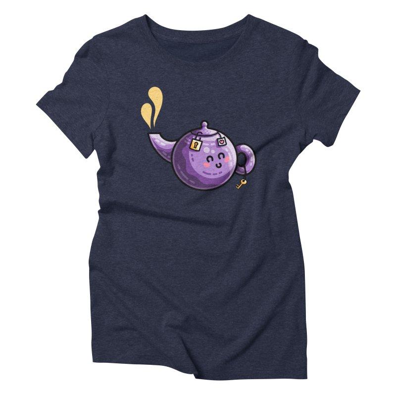 Kawaii Cute Safe-Tea Pun Women's Triblend T-Shirt by Flaming Imp's Artist Shop