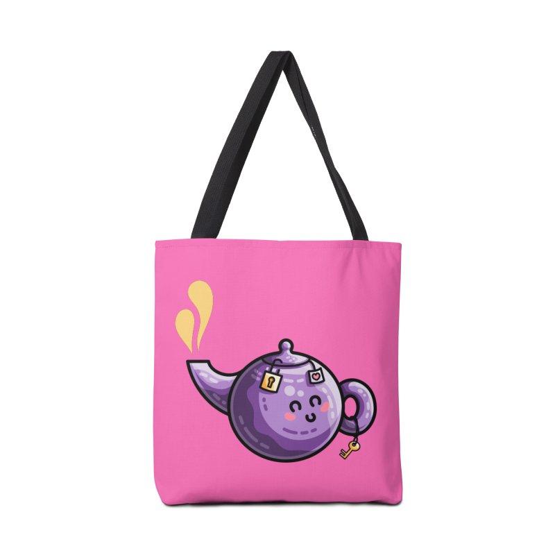Kawaii Cute Safe-Tea Pun Accessories Tote Bag Bag by Flaming Imp's Artist Shop