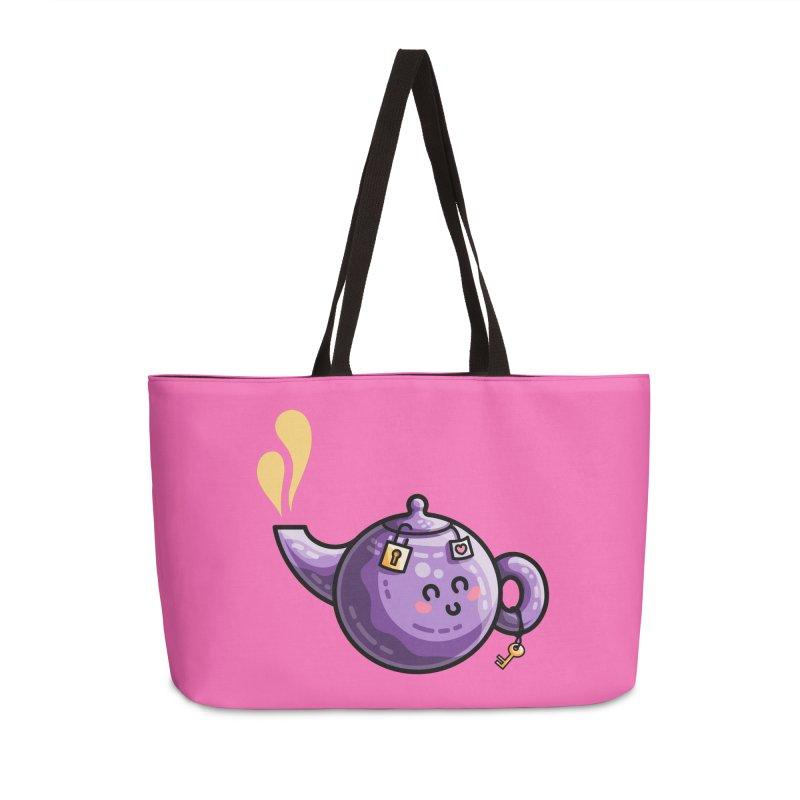 Kawaii Cute Safe-Tea Pun Accessories Weekender Bag Bag by Flaming Imp's Artist Shop