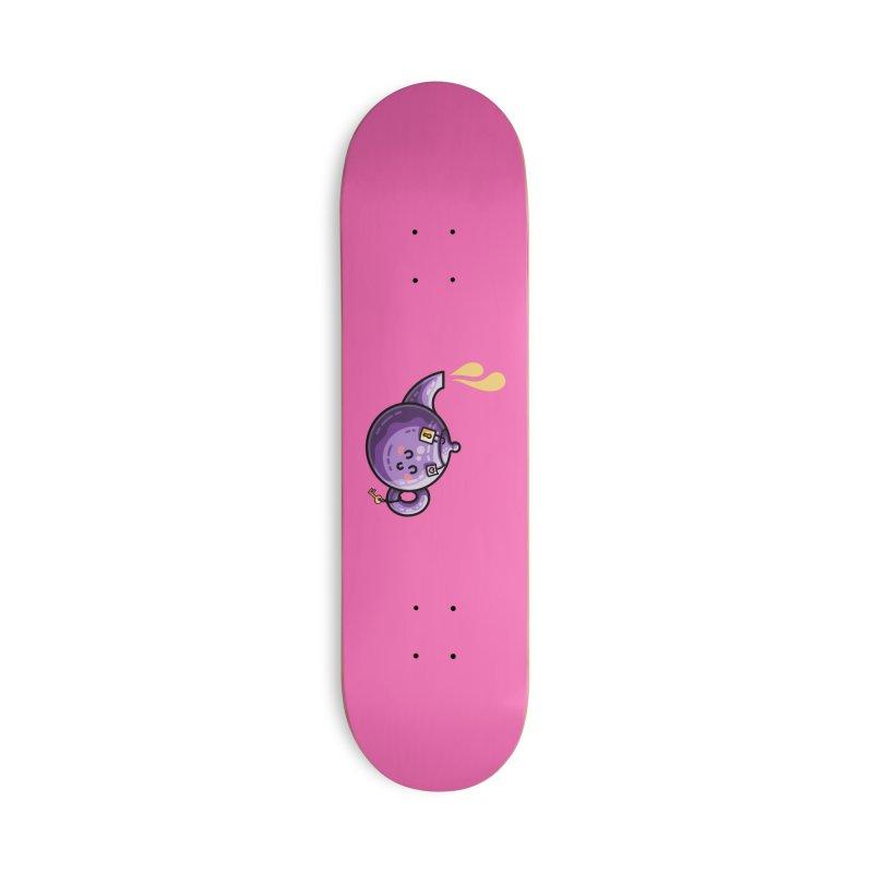 Kawaii Cute Safe-Tea Pun Accessories Deck Only Skateboard by Flaming Imp's Artist Shop