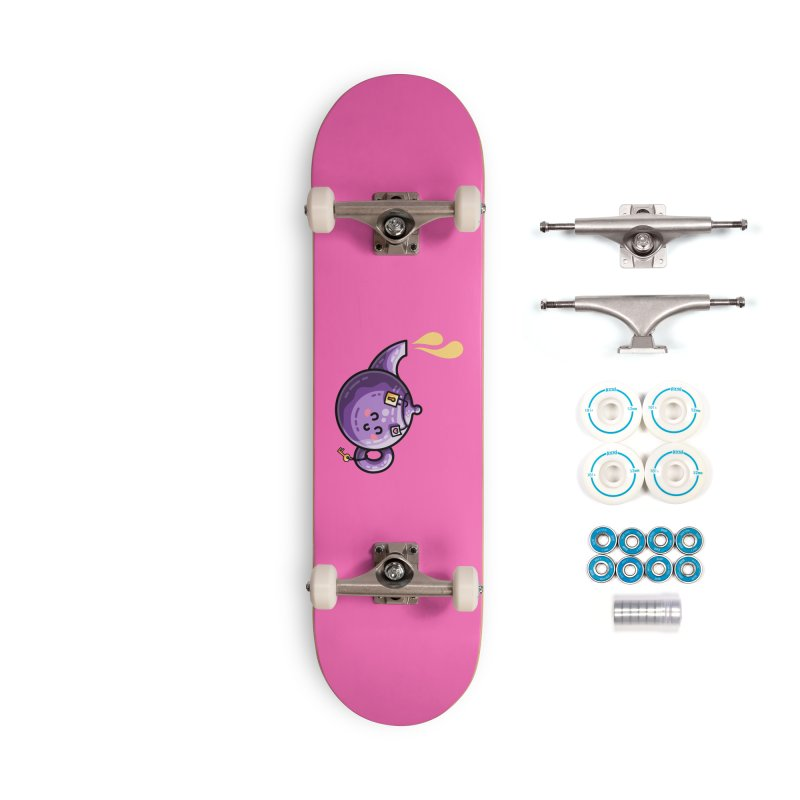 Kawaii Cute Safe-Tea Pun Accessories Complete - Basic Skateboard by Flaming Imp's Artist Shop