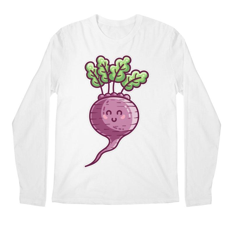 Kawaii Cute Beetroot Men's Regular Longsleeve T-Shirt by Flaming Imp's Artist Shop