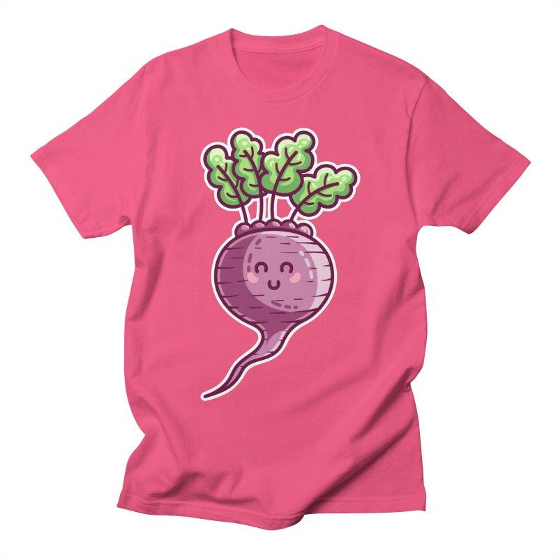 Kawaii Cute Beetroot Women's Regular Unisex T-Shirt by Flaming Imp's Artist Shop