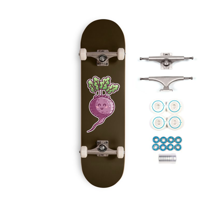 Kawaii Cute Beetroot Accessories Complete - Basic Skateboard by Flaming Imp's Artist Shop