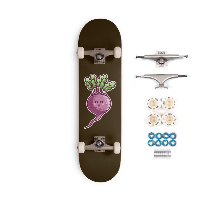 Kawaii Cute Beetroot Accessories Complete - Premium Skateboard by Flaming Imp's Artist Shop