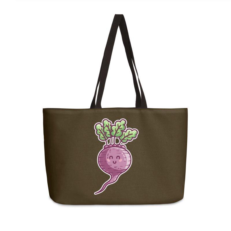 Kawaii Cute Beetroot Accessories Weekender Bag Bag by Flaming Imp's Artist Shop