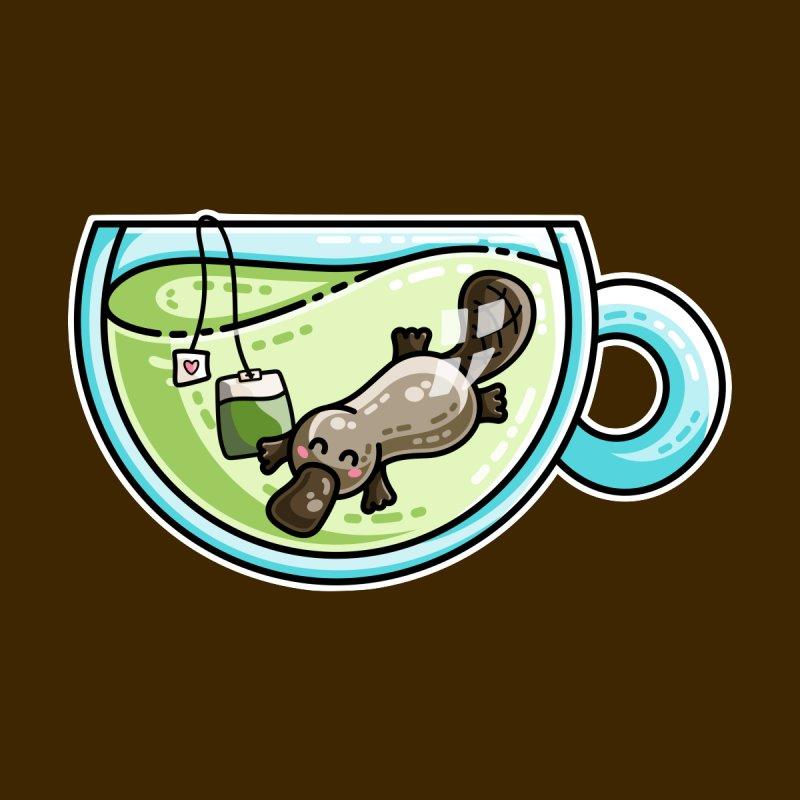 Pla-tea-pus Kawaii Cute Platypus Tea Pun by Flaming Imp's Artist Shop