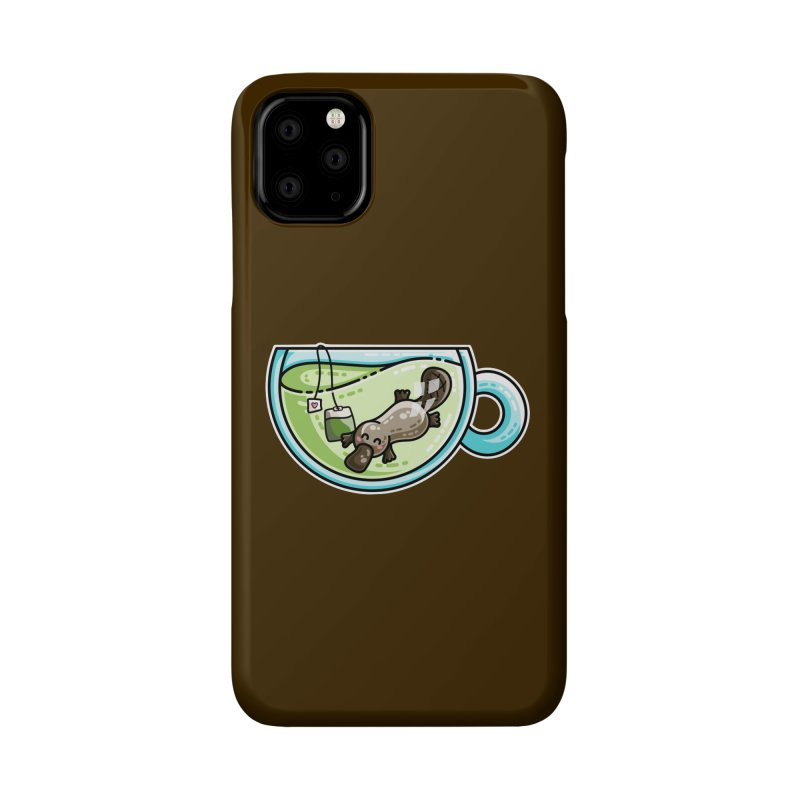 Pla-tea-pus Kawaii Cute Platypus Tea Pun Accessories Phone Case by Flaming Imp's Artist Shop
