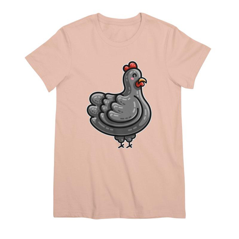 Kawaii Cute Chicken Women's Premium T-Shirt by Flaming Imp's Artist Shop