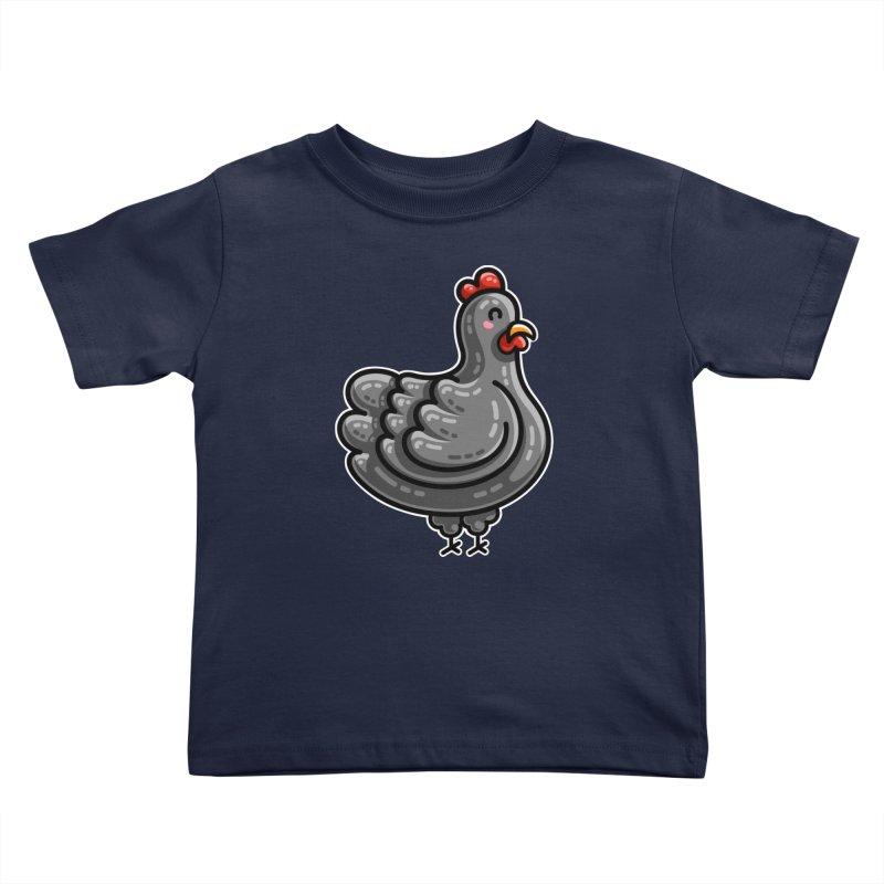 Kawaii Cute Chicken Kids Toddler T-Shirt by Flaming Imp's Artist Shop