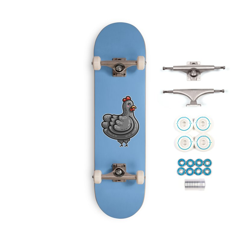 Kawaii Cute Chicken Accessories Complete - Basic Skateboard by Flaming Imp's Artist Shop