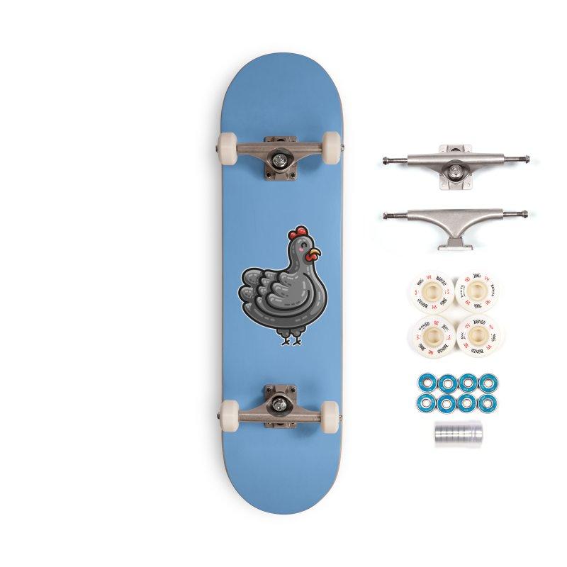 Kawaii Cute Chicken Accessories Complete - Premium Skateboard by Flaming Imp's Artist Shop