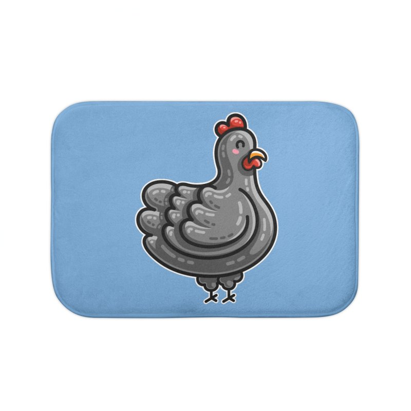 Kawaii Cute Chicken Home Bath Mat by Flaming Imp's Artist Shop