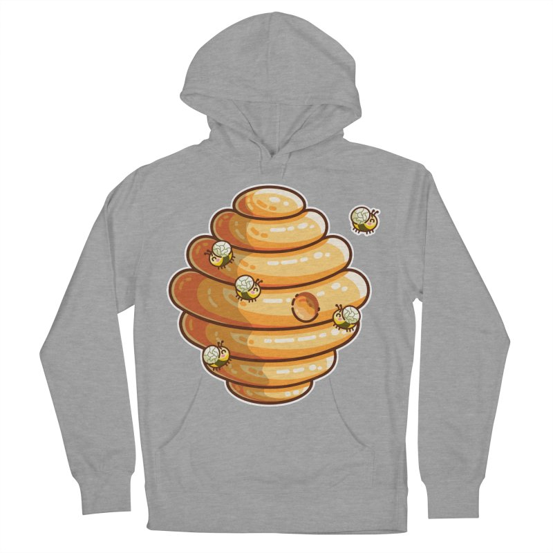 Kawaii Cute Bees and Beehive Women's Pullover Hoody by Flaming Imp's Artist Shop