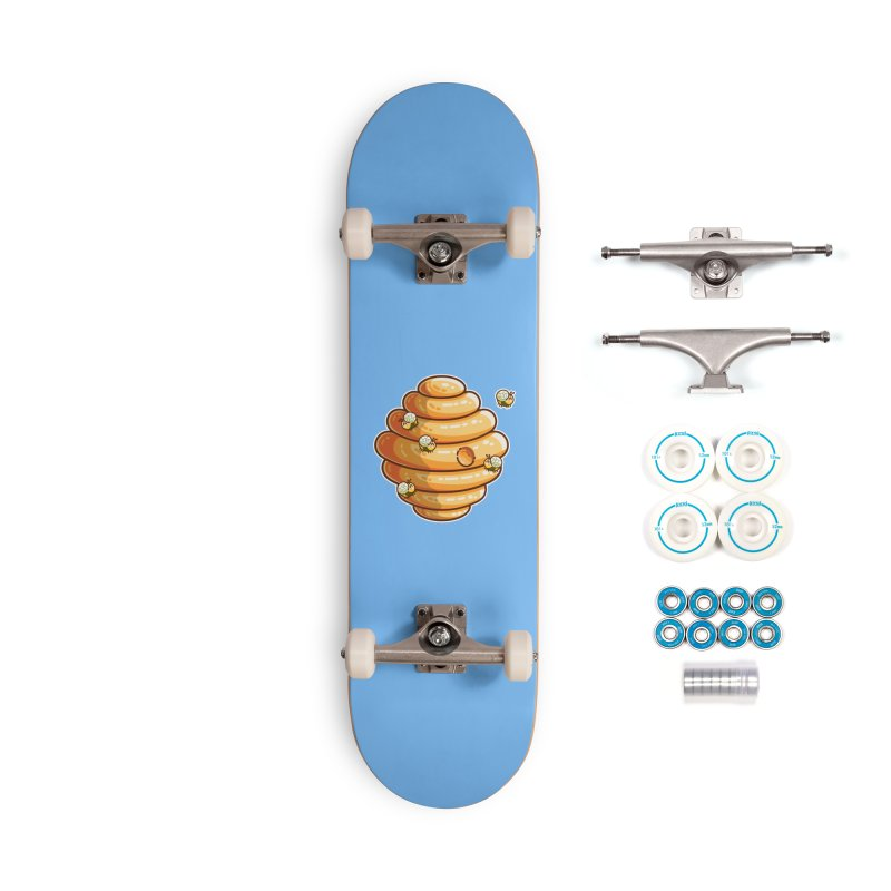 Kawaii Cute Bees and Beehive Accessories Complete - Basic Skateboard by Flaming Imp's Artist Shop