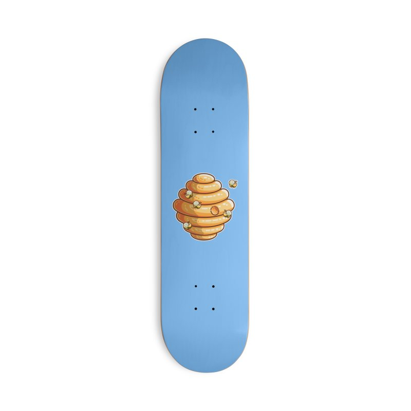 Kawaii Cute Bees and Beehive Accessories Deck Only Skateboard by Flaming Imp's Artist Shop