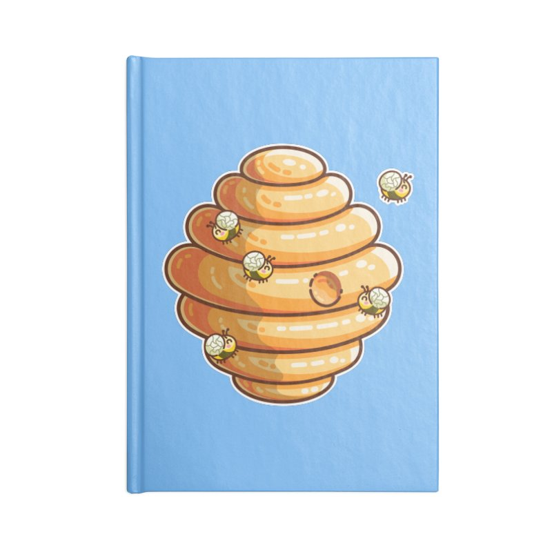 Kawaii Cute Bees and Beehive Accessories Blank Journal Notebook by Flaming Imp's Artist Shop