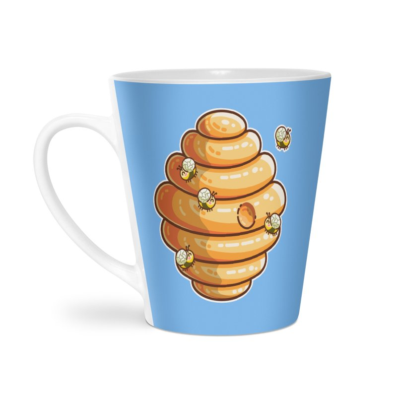 Kawaii Cute Bees and Beehive Accessories Mug by Flaming Imp's Artist Shop
