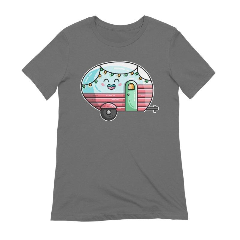Kawaii Cute Vintage Caravan Women's T-Shirt by Flaming Imp's Artist Shop