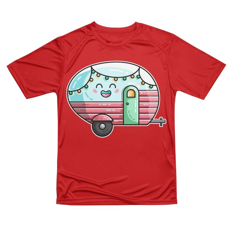 Kawaii Cute Vintage Caravan Men's Performance T-Shirt by Flaming Imp's Artist Shop