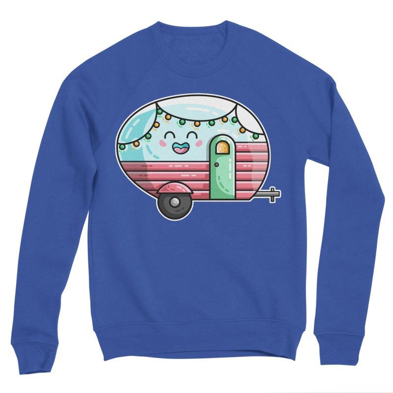 Kawaii Cute Vintage Caravan Men's Sponge Fleece Sweatshirt by Flaming Imp's Artist Shop