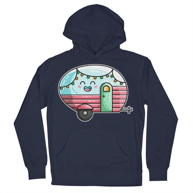 Kawaii Cute Vintage Caravan Men's Pullover Hoody by Flaming Imp's Artist Shop
