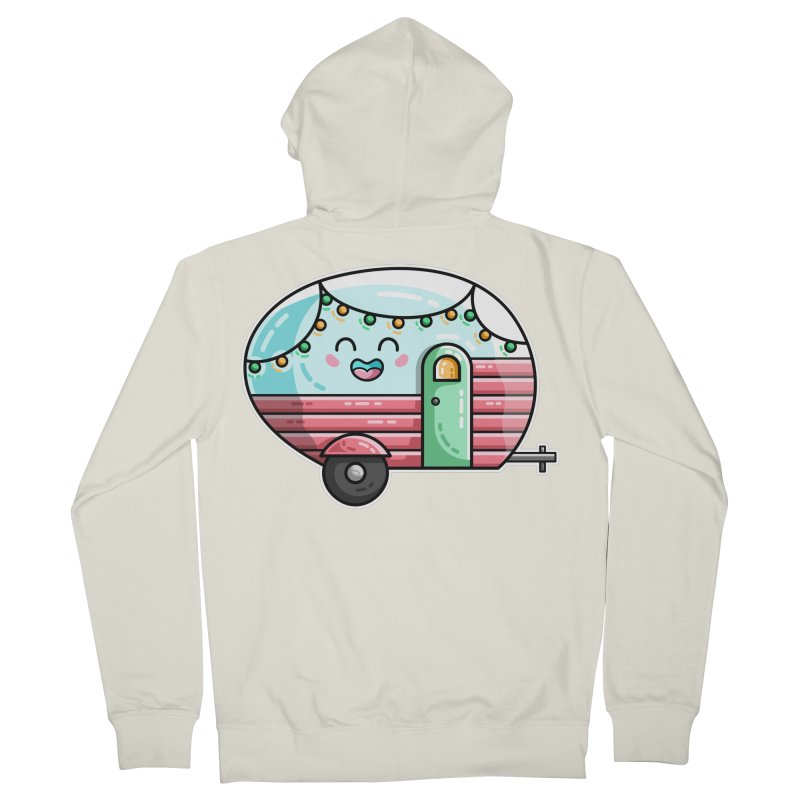 Kawaii Cute Vintage Caravan Women's French Terry Zip-Up Hoody by Flaming Imp's Artist Shop