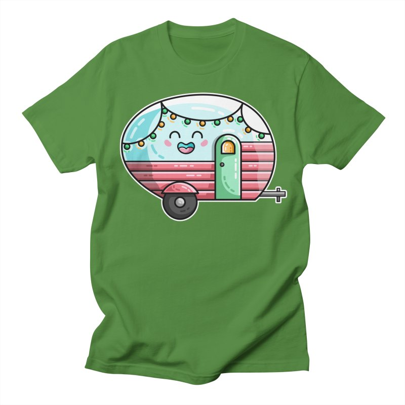 Kawaii Cute Vintage Caravan Men's Regular T-Shirt by Flaming Imp's Artist Shop