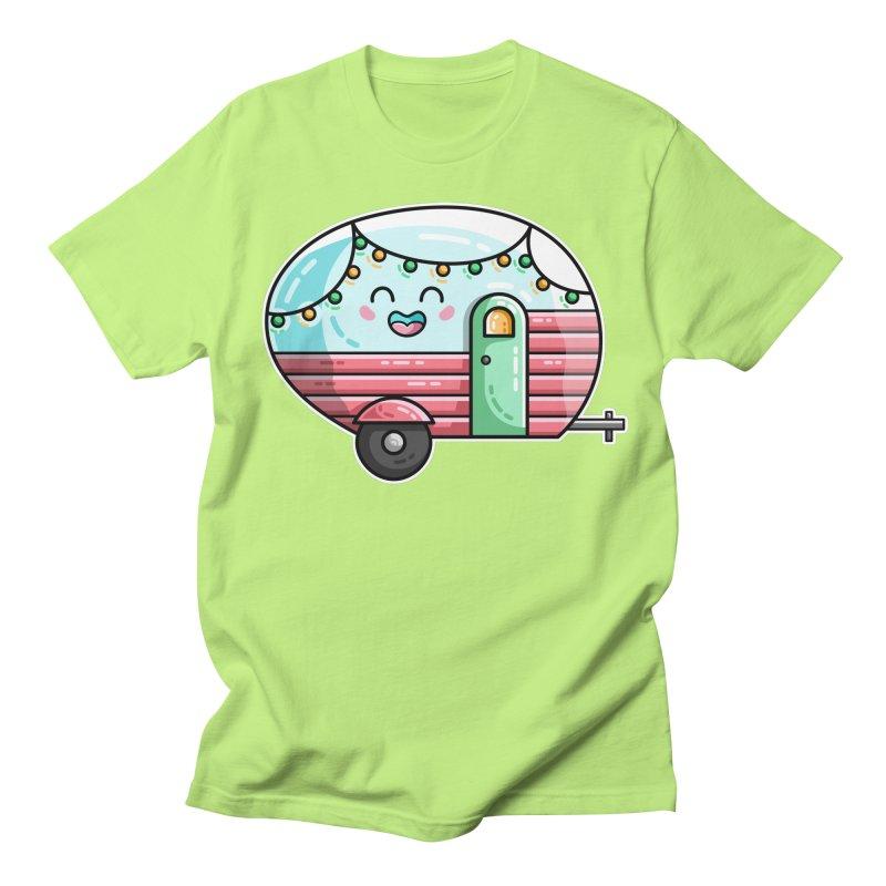 Kawaii Cute Vintage Caravan Men's Regular T-Shirt by Flaming Imp's Artist Shop