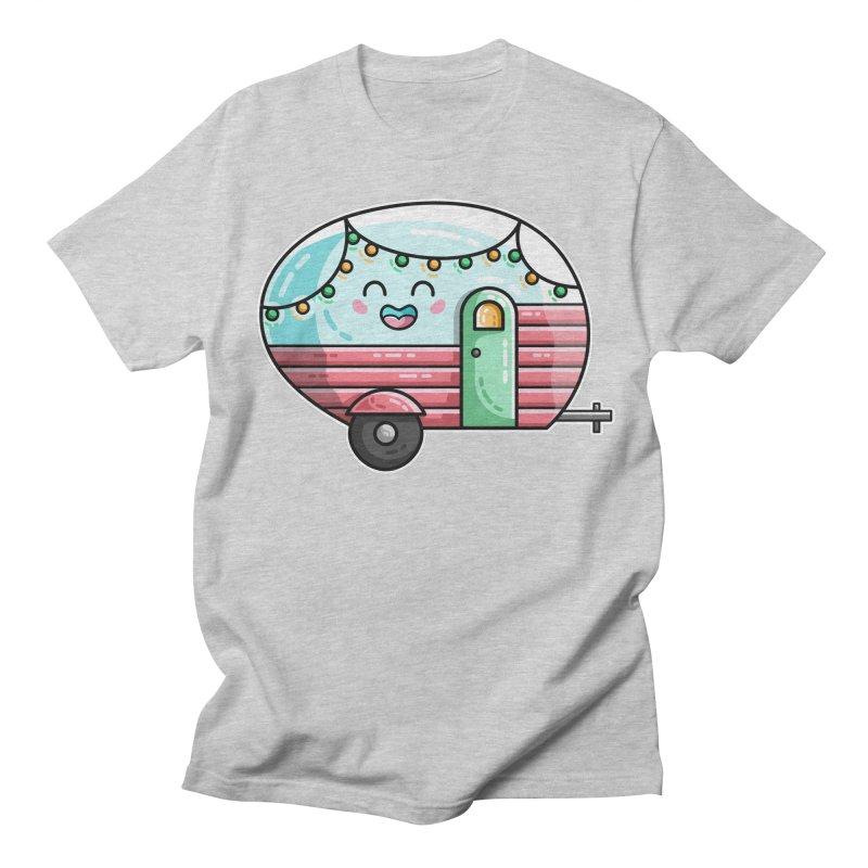 Kawaii Cute Vintage Caravan Women's Regular Unisex T-Shirt by Flaming Imp's Artist Shop
