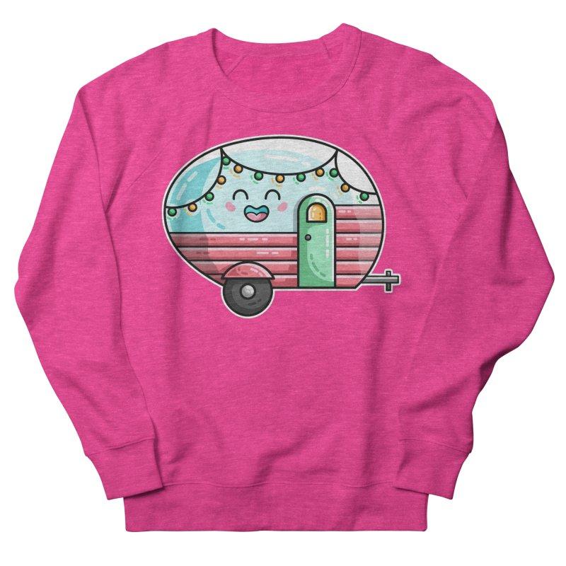 Kawaii Cute Vintage Caravan Men's French Terry Sweatshirt by Flaming Imp's Artist Shop