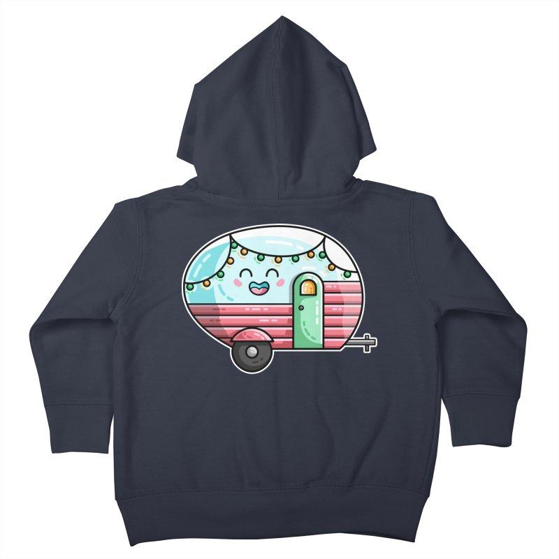 Kawaii Cute Vintage Caravan Kids Toddler Zip-Up Hoody by Flaming Imp's Artist Shop
