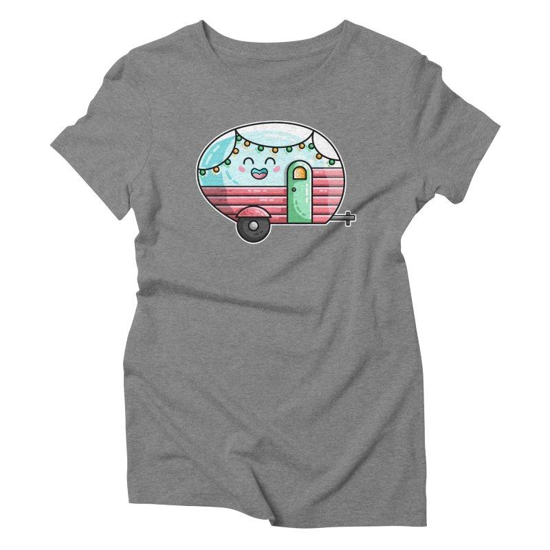 Kawaii Cute Vintage Caravan Women's Triblend T-Shirt by Flaming Imp's Artist Shop
