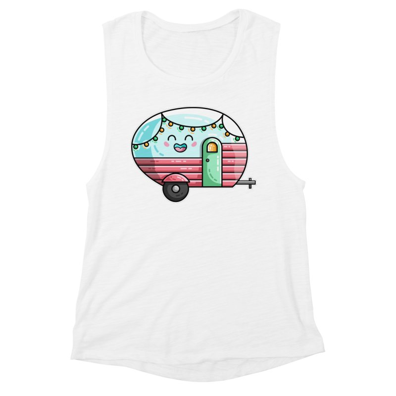 Kawaii Cute Vintage Caravan Women's Muscle Tank by Flaming Imp's Artist Shop
