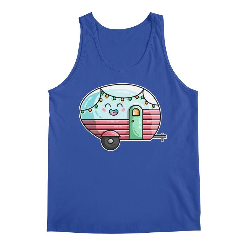 Kawaii Cute Vintage Caravan Men's Regular Tank by Flaming Imp's Artist Shop
