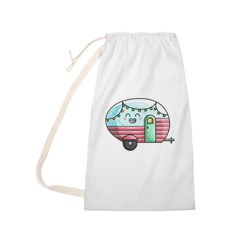 Kawaii Cute Vintage Caravan Accessories Laundry Bag Bag by Flaming Imp's Artist Shop
