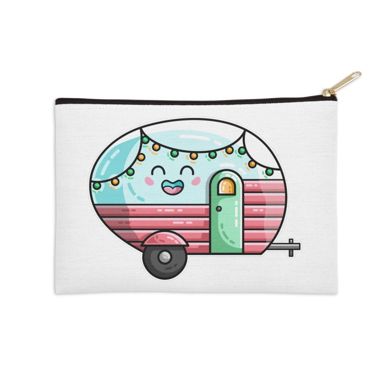Kawaii Cute Vintage Caravan Accessories Zip Pouch by Flaming Imp's Artist Shop