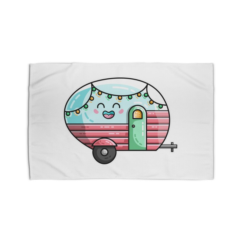 Kawaii Cute Vintage Caravan Home Rug by Flaming Imp's Artist Shop