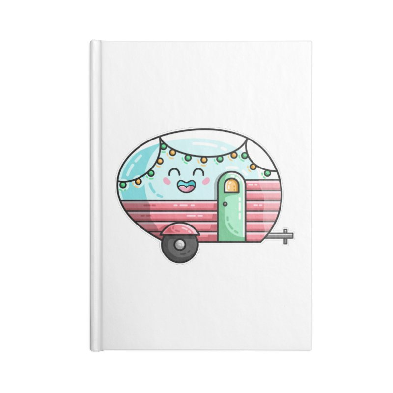 Kawaii Cute Vintage Caravan Accessories Lined Journal Notebook by Flaming Imp's Artist Shop