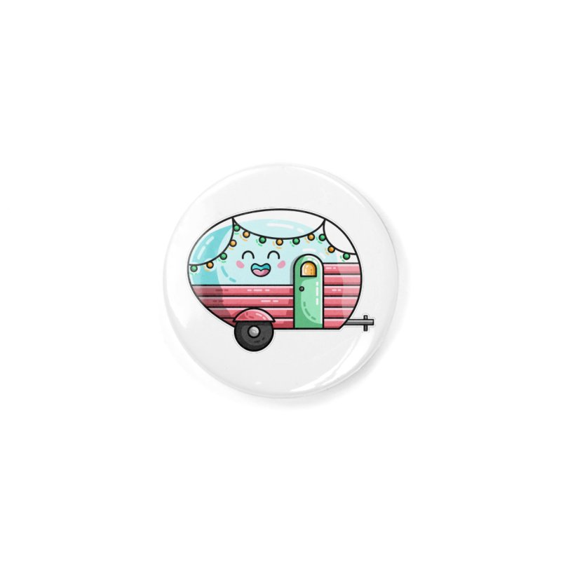 Kawaii Cute Vintage Caravan Accessories Button by Flaming Imp's Artist Shop