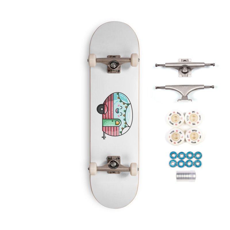 Kawaii Cute Vintage Caravan Accessories Complete - Premium Skateboard by Flaming Imp's Artist Shop