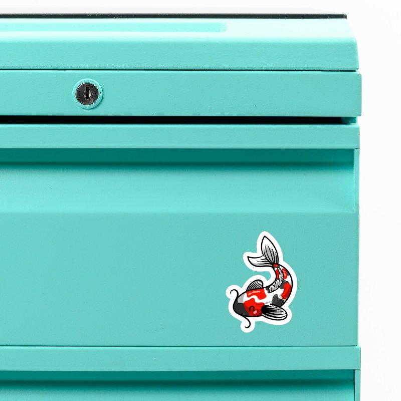 Kawaii Cute Japanese Koi Carp Fish Accessories Magnet by Flaming Imp's Artist Shop