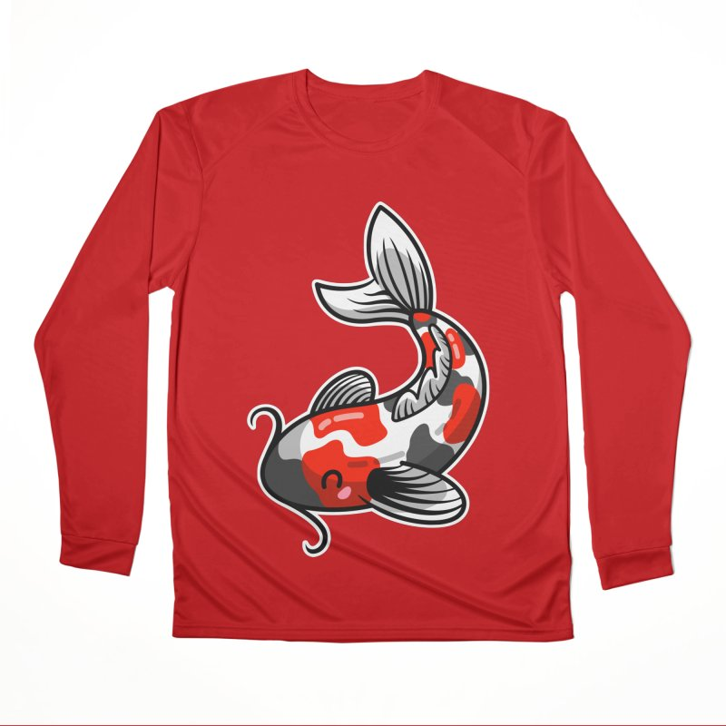 Kawaii Cute Japanese Koi Carp Fish Women's Performance Unisex Longsleeve T-Shirt by Flaming Imp's Artist Shop