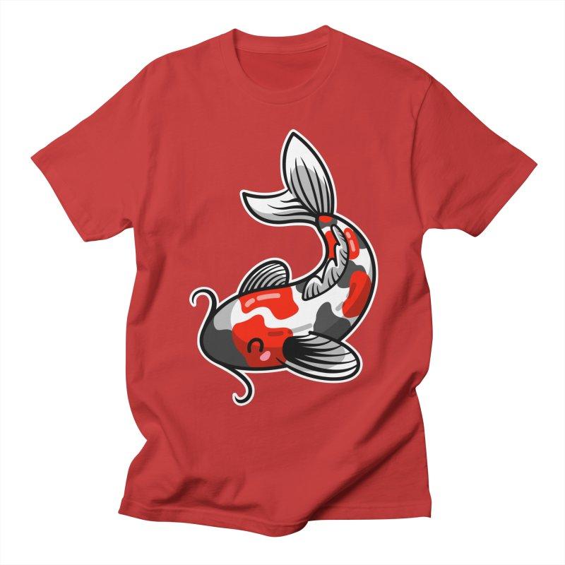 Kawaii Cute Japanese Koi Carp Fish Women's Regular Unisex T-Shirt by Flaming Imp's Artist Shop