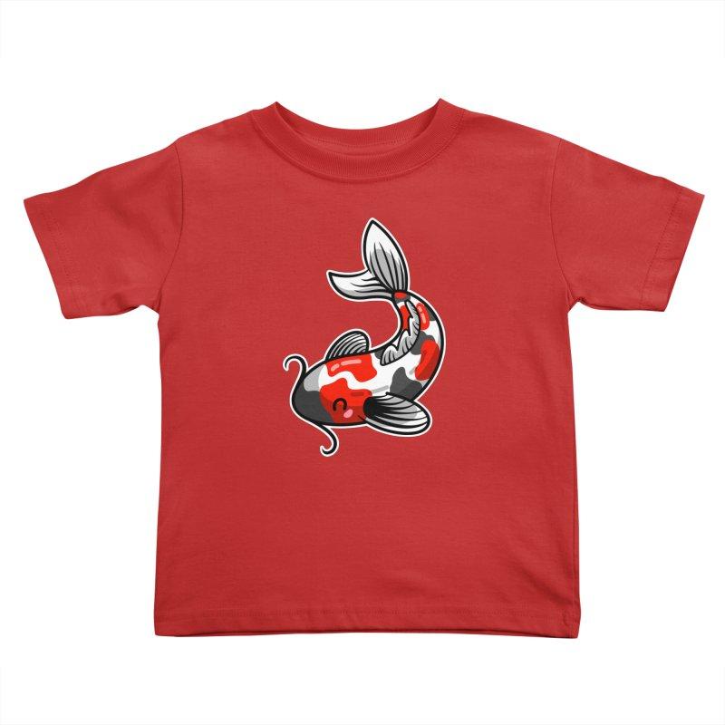 Kawaii Cute Japanese Koi Carp Fish Kids Toddler T-Shirt by Flaming Imp's Artist Shop