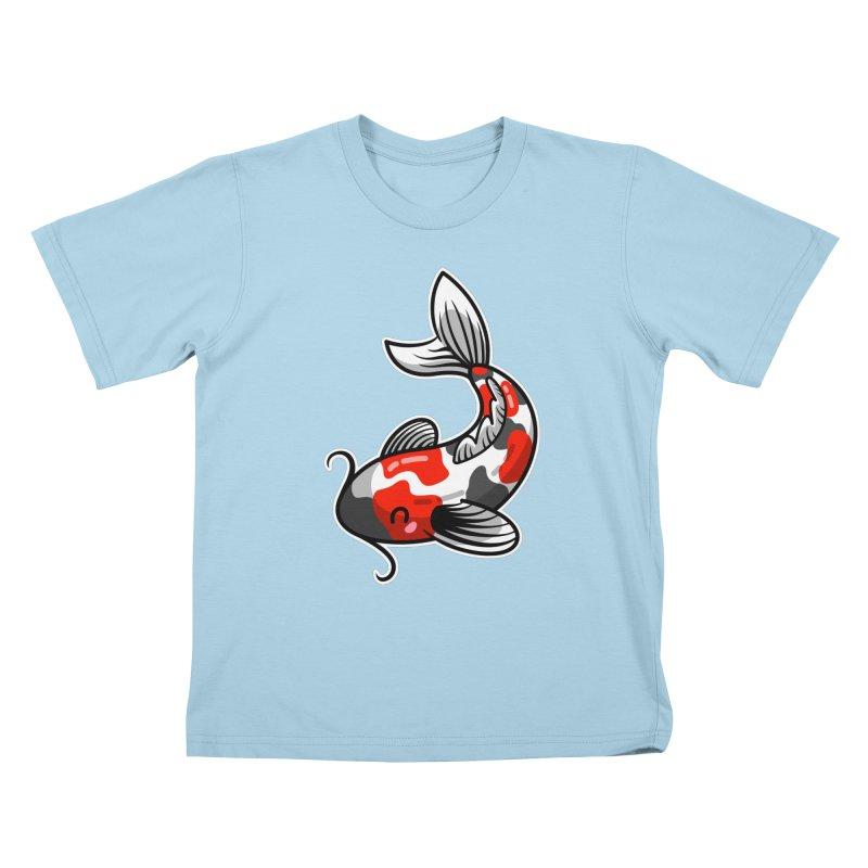 Kawaii Cute Japanese Koi Carp Fish Kids T-Shirt by Flaming Imp's Artist Shop
