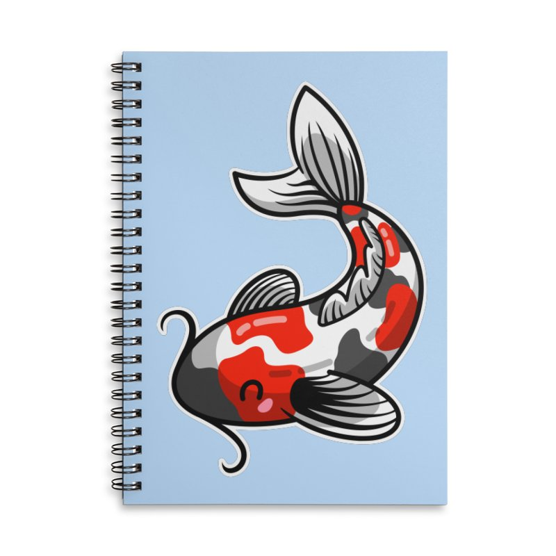 Kawaii Cute Japanese Koi Carp Fish Accessories Lined Spiral Notebook by Flaming Imp's Artist Shop