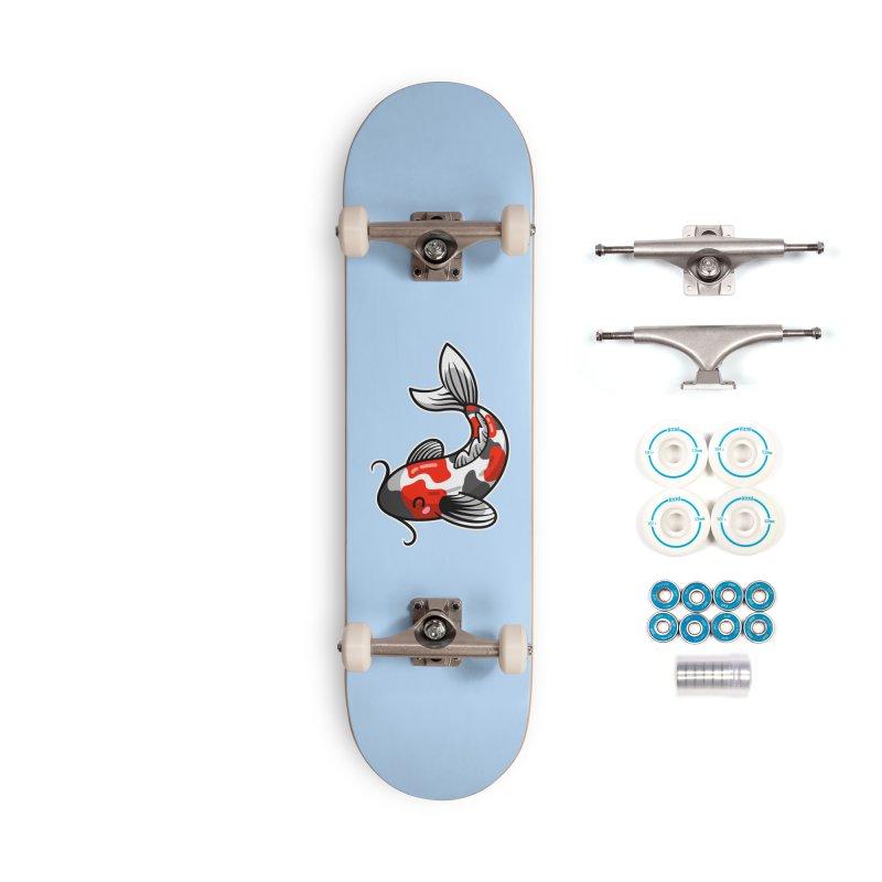 Kawaii Cute Japanese Koi Carp Fish Accessories Complete - Basic Skateboard by Flaming Imp's Artist Shop